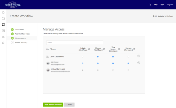 manage form access
