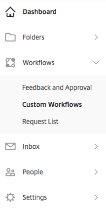 workflow sidebar