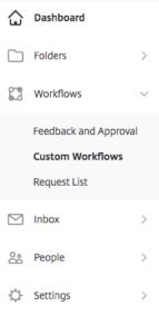 workflow sidebar